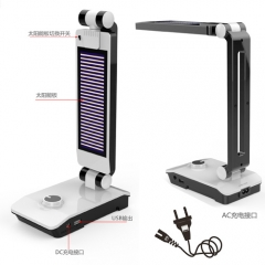 LED lámpara de mesa solar y USB
