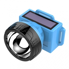 plastic led solar headlamp
